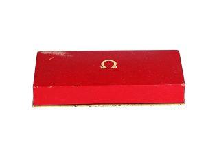Lot #10994 – Vintage Omega Watch Box Rectangular Omega [tag]