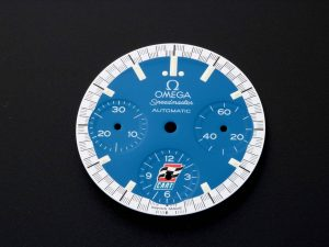 Lot #11029A – Omega 3510.80 Speedmaster CART Logo Blue Dial Parts 3510.81 Omega 3510.81 Dial