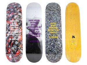 Lot #11042 – Ai Weiwei 3 Skateboard Deck Set Rare Limited Edition Ai Weiwei Ai Weiwei Skateboard