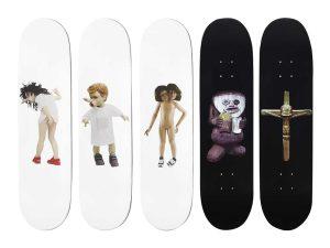 Lot #11104 – Chapman Brothers x Supreme Skateboards Skate Deck Set of 5 Chapman Brothers Chapman Brothers