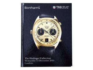 Lot #11241A – Bonhams Haslinger Collection Tag Heuer Watch Catalog London 2010 Collector's Bookshelf Haslinger Collection