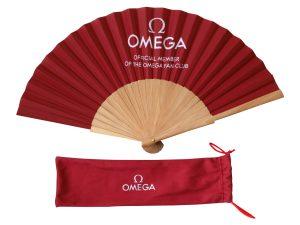 Lot #10968 – Omega Watch Club Official Member Folding Hand Fan Omega Omega Fan Club